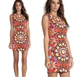 Mara Hoffman Cutout Mini Dress Suzani Poppy